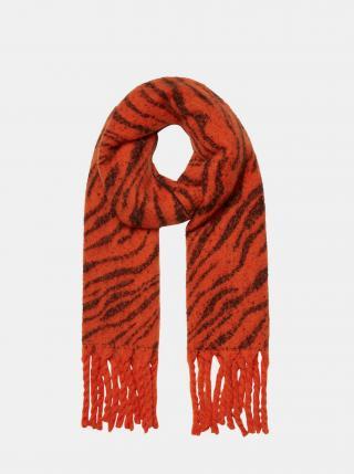 Červený šál so zebrím vzorom VERO MODA dámské červená