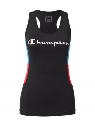 Champion Authentic Athletic Apparel Top  ružová / čierna / svetlomodrá / biela dámské XS