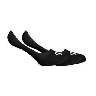 CHAMPION FOOTIE SOCKS LEGACY 2x - Low invisible socks with Champion logo 2 pairs - black dámské Neurčeno L