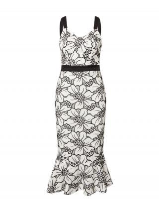 Chi Chi London Kokteilové šaty  biela / čierna dámské 34