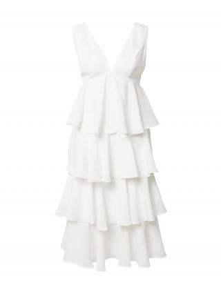 Chi Chi London Kokteilové šaty  biela dámské 44