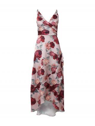 Chi Chi London Kokteilové šaty Mabel  ružová / pastelovo zelená / červená / tmavočervená / rosé dámské 36