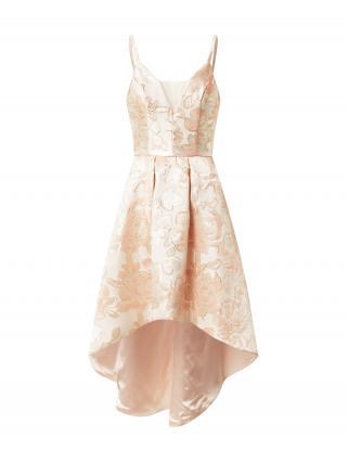 Chi Chi London Kokteilové šaty  pastelovo ružová / púdrová / broskyňová dámské 40