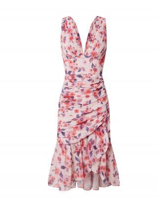 Chi Chi London Kokteilové šaty  ružová / tmavomodrá / červená dámské 42