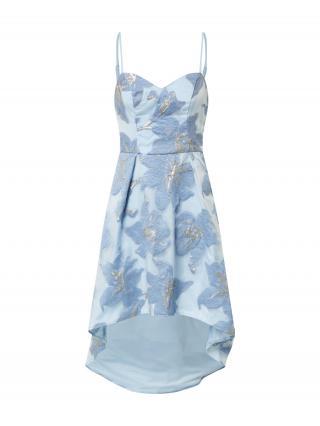Chi Chi London Kokteilové šaty Sara  svetlomodrá / dymovo modrá / strieborná dámské 42