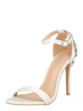 Chi Chi London Remienkové sandále  biela / strieborná dámské 35,5