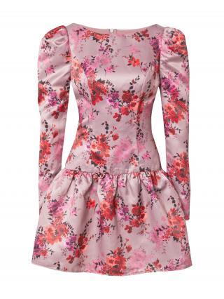Chi Chi London Šaty Ana  ružová / zmiešané farby dámské 34