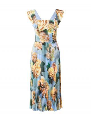 Chi Chi London Šaty  svetlomodrá / tmavozelená / svetlooranžová / smaragdová / pastelovo žltá dámské 36