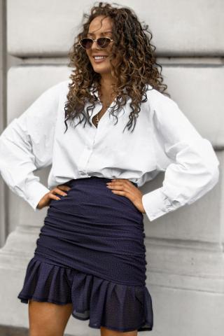 Chiara Wear Womans Skirt Kaya Navy Blue dámské Other XS