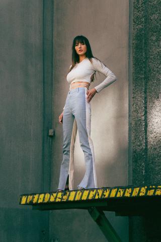 Chiara Wear Womans Trousers Patchwork dámské Other XS