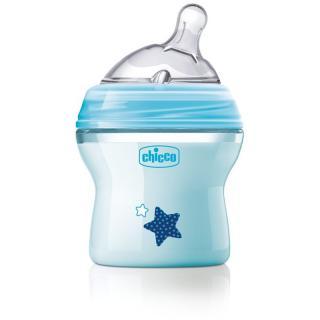 Chicco Natural Feeling Blue dojčenská fľaša 0m  150 ml 150 ml