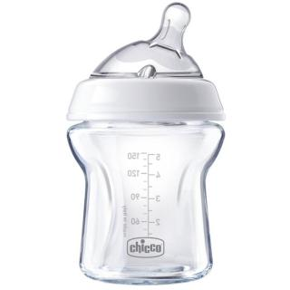 Chicco Natural Feeling Glass Neutral dojčenská fľaša 0m  150 ml 150 ml