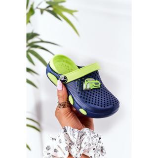 Childrens Foam Slippers Crocs Navy Blue-Green Oliver dámské Other 29