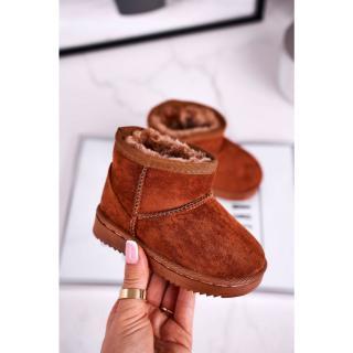Childrens Insulated Snow Boots Brown Gooby tmavočervená | ružová 32
