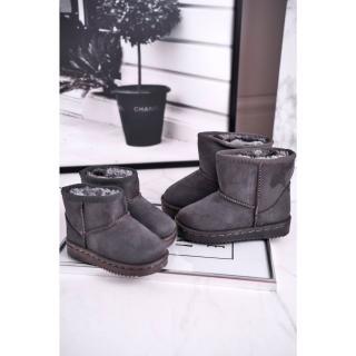 Childrens Insulated Snow Boots Grey Gooby biela | šedá 35