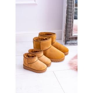 Childrens Insulated Snow Boots Khaki Gooby biela | šedá | hnedá | horčicová 30