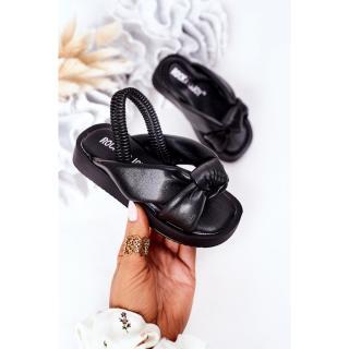 Childrens Sandals With Drawstring Black Bubble Gum dámské Other 30