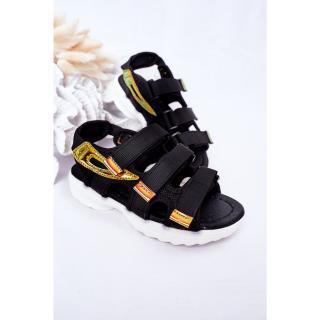 Childrens Sport Velcro Sandals Black Flyn dámské Other 34