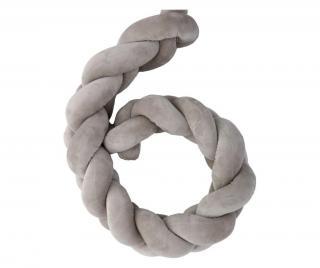 Chránič na postieľku Grey Sivá & Striebristá