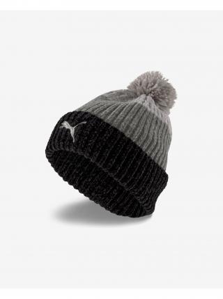 Čiapky, čelenky, klobúky pre ženy Puma - čierna, sivá dámské ONE SIZE