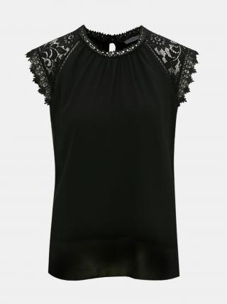 Čierna blúzka s krajkovými detailmi Haily´s - XL dámské XL