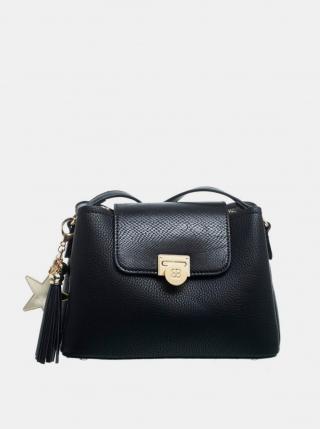 Čierna crossbody kabelka s ozdobným strapcom Bessie London dámské