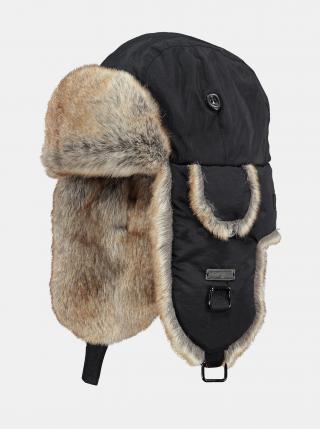Čierna dámska čiapka s umelým kožúškom s prímesou vlny Barts dámské ONE SIZE