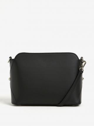 Čierna dámska kožená crossbody kabelka KARA dámské