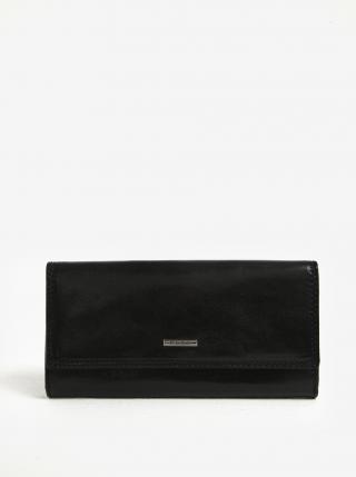 Čierna dámska kožená peňaženka KARA dámské