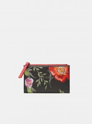 Čierna dámska kvetovaná peňaženka Desigual Niagara Emma dámské