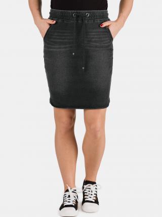 Čierna dámska rifľová sukňa SAM 73 dámské S