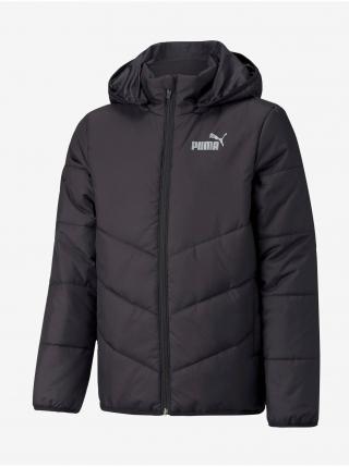 Čierna dievčenská prešívaná bunda Puma Ess Padded HD Jacket B 104