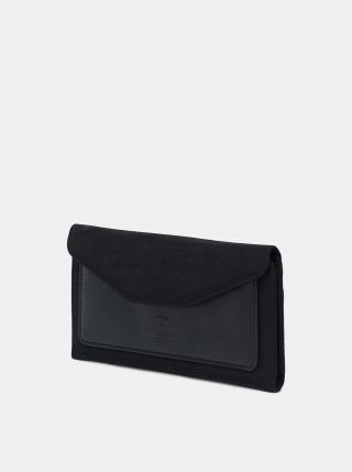 Čierna kožená peňaženka Herschel Supply dámské