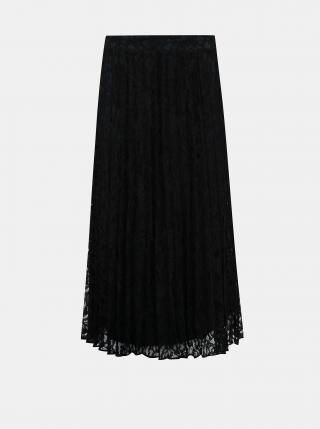 Čierna krajková plisovaná midi sukňa Tom Tailor Denim dámské