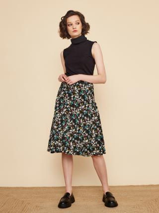 Čierna kvetovaná sukňa ZOOT Valencie dámské XS