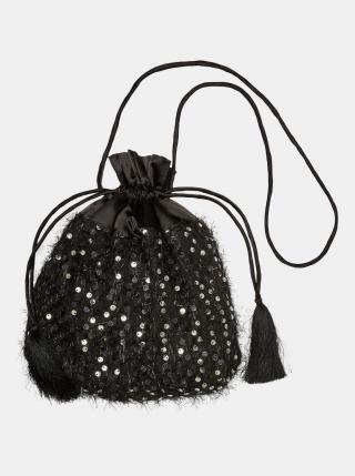 Čierna malá kabelka s flitrami VERO MODA dámské