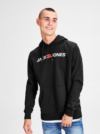 Čierna mikina s potlačou a kapucňou Jack & Jones Corp pánské XL