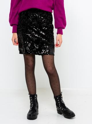 Čierna sukňa s flitrami CAMAIEU dámské S