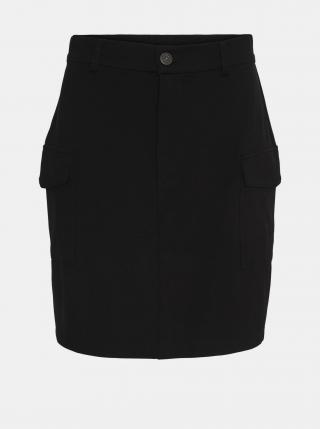 Čierna sukňa s vreckami Noisy May Hipe dámské XS