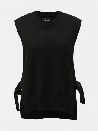 Čierna svetrová vesta Pieces Alice dámské XL