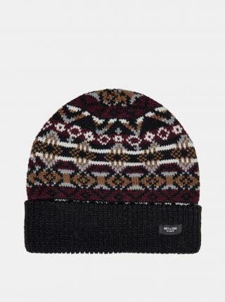 Čierna vzorovaná čiapka ONLY & SONS pánské ONE SIZE