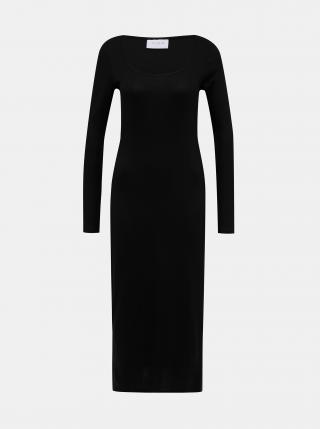 Čierne basic midišaty VILA Suloma dámské čierna S