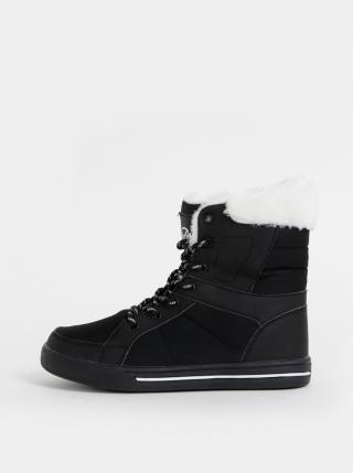 Čierne dámske členkové zimné topánky SAM 73 dámské čierna 36