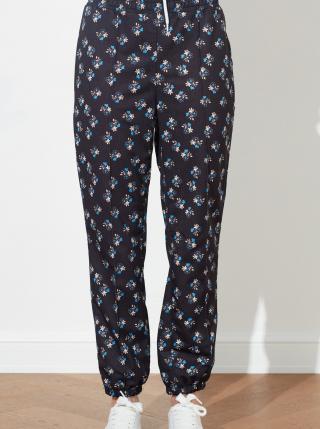 Čierne dámske kvetované nohavice Trendyol dámské čierna XS