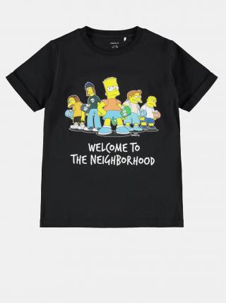 Čierne detské tričko s potlačou name it Simpsons čierna 122-128