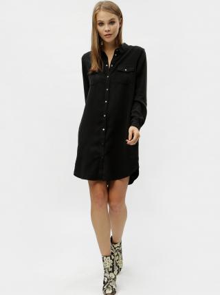 Čierne košeľové šaty s vreckami VERO MODA Silla dámské čierna L