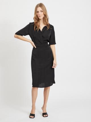 Čierne košeľové šaty VILA dámské čierna S