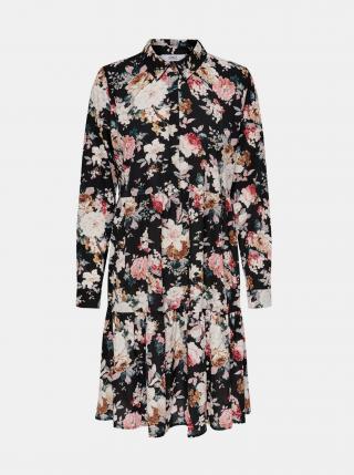 Čierne kvetované košeľové šaty ONLY Larry dámské čierna M
