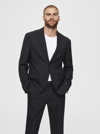 Čierne sako s prímesou vlny Selected Homme Stock pánské čierna XS