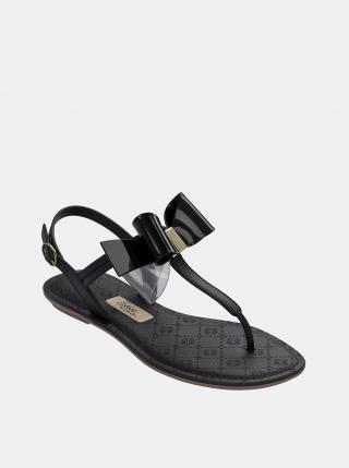 Čierne sandále s mašľou Grendha dámské čierna 37